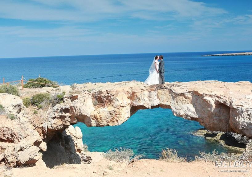 Свадьба в беседке на самой вершине горы в заповеднике Каво Греко! Кипр!