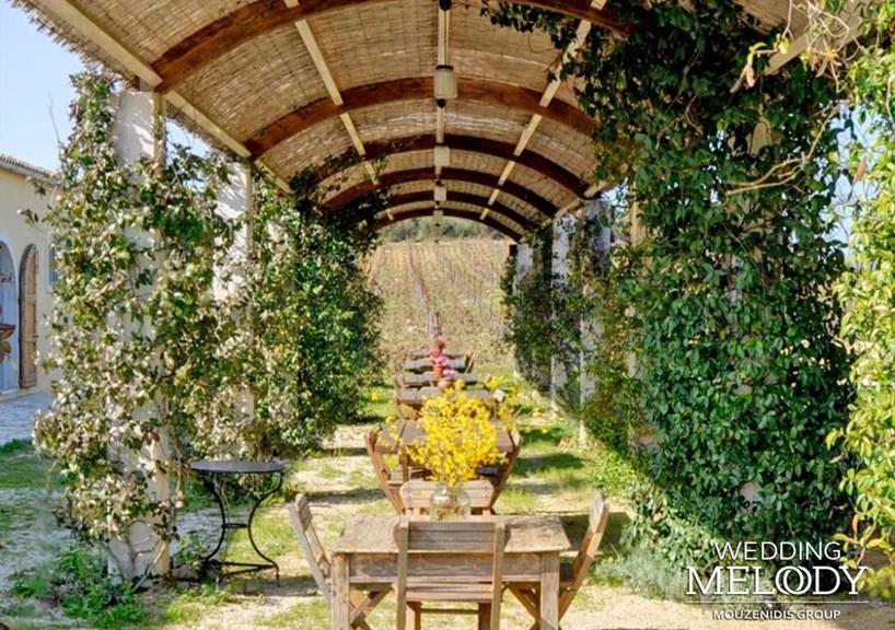 Свадебная церемония на винодельне Ambelonas Corfu на о. Корфу