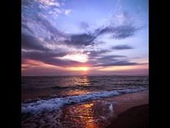 Beautiful sunrise on Halkidiki Greece