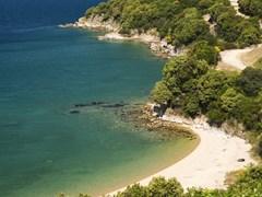 Coast of Aegean sea (Greece, Halkidiki, Olimpias)