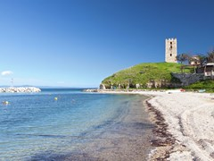 Nea Fokea summer resort at Kassandra of Halkidiki peninsula in Greece