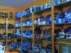 Souvenir shop in Ouranopolis, Athos Peninsula, Mount Athos, Chalkidiki, Greece
