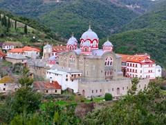 Greek-Monastery-on-Mount-Athos,-Chalkidiki,-Greece-(4)