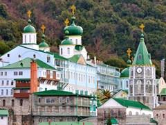 Greek-Monastery-on-Mount-Athos,-Chalkidiki,-Greece-4