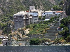 Greek-Monastery-on-Mount-Athos,-Chalkidiki,-Greece--8