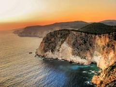 Скалы на закате, Закинф, Греция