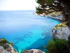 Красивый вид на побережье острова Закинф, Греция