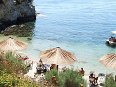 Кафе на пляже Лаганас Закинф Греция