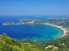 Залив с Святого Георгия на острове Корфу