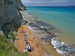 Пляж на острове Корфу, Греция