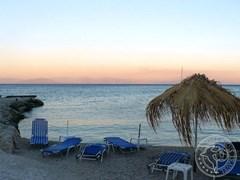 Отдых в Греции. Закат на побережьи