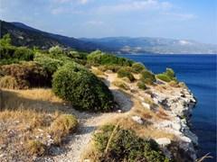 Вид на море с острова Самос, Греция