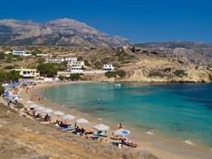 пляж Карпатоса на заливе Лефкос - Греция