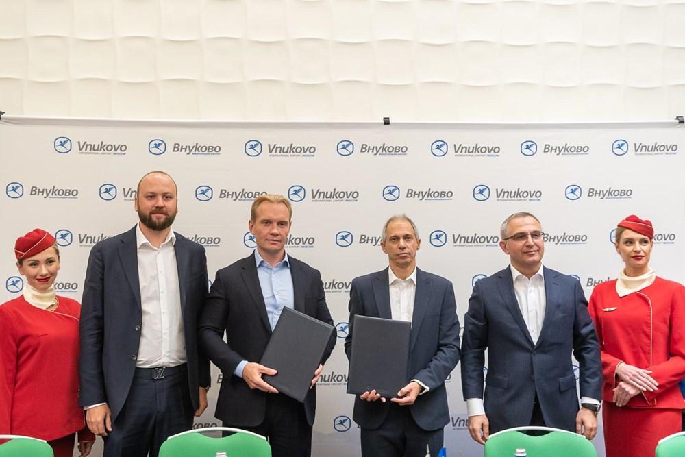 ΔΕΤΙΟ ΤΥΠΟΥ: Υπεγράφη η συμφωνία στρατηγικής συνεργασίας  μεταξύ του Διεθνούς Αεροδρόμιου του Βνούκοβο και της Ellinair