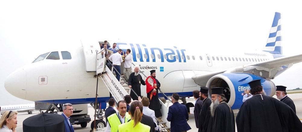Возвращение Мощей Святой Елены в Венецию авиакомпанией Ellinair. Награждение Президента Бориса Музенидиса.
