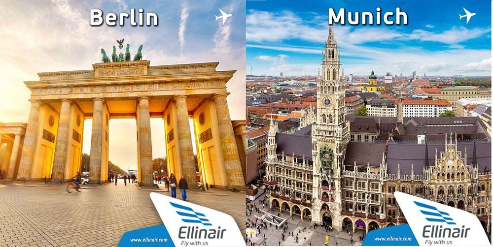 New flights Heraklion–Berlin and Heraklion–Munich, starting at €36.30.